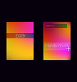 modern mesh gradient colorful cover set vector image vector image