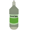 Normal saline bottle vector image