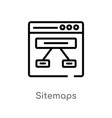 outline sitemaps icon isolated black simple line