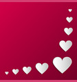 paper origami hearts poster happy valentines day vector image vector image