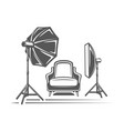 photo studio element isolated on white background vector image vector image