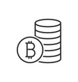 pile of bitcoin coins icon vector image vector image