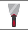 putty knife spatula repair tool spackling or vector image vector image