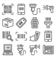 qr code and barcode icons set vector image vector image