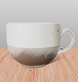 Realistic transparent glass cup of cappuccino on vector image