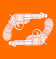 revolver pistol fashion vector image