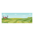 rural background green grass field vector image