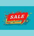 sale colorful cloud message sandwich style on vector image