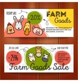set of discount coupons for eco food goods vector image vector image