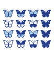 shapes nice butterflies vector image vector image