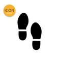 shoes print icon isolated flat style vector image
