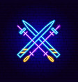 skiing neon sign vector image vector image