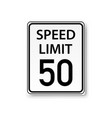 speed limit sign isolated transparent background vector image