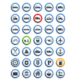 Transportation Nautical and Travel Icons vector image