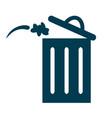 trash bin or delete icon vector image