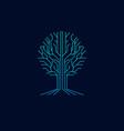 tree technology symbol logo vector image vector image