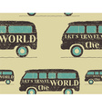 Vintage Seamless pattern camping Retro Rv and vector image vector image
