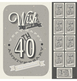 Vintage style anniversary sign collection vector image vector image