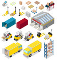 warehouse distribution storage industry in vector image