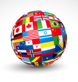 World flags sphere vector | Price: 1 Credit (USD $1)