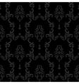 Black Seamless vintage background Baroque floral vector image