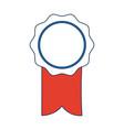 rosette ribbon award winner symbol vector image