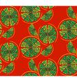 Round lemon pattern vector image