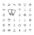33 season icons vector image vector image