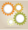 Abstract color gear wheels vector image vector image