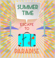 Abstract summer time infographic with book vector image