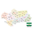 andalusia administrative and political map with vector image vector image