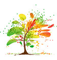 art autumn tree vector image vector image