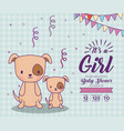 baby shower design vector image