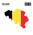 belgium map border with flag eps10 vector image