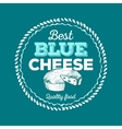 Best Blue Cheese icon hand drawn vector image vector image