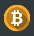 bitcoin round icon flat design vector image