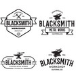 blacksmith labels set design elements for vector image
