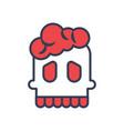 brain halloween logo icon design vector image vector image