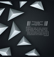 business paper template - origami background vector image vector image