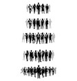 business teams set vector image vector image