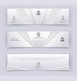 business white banner template logistics vector image vector image