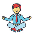 businessman sitting in yoga pose business vector image