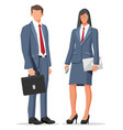 businesswoman and isolated vector image