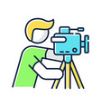 cameraman rgb color icon vector image vector image