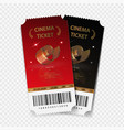 cinema tickets realistic vector image