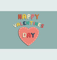 colorful happy valentines day card sticker vector image vector image
