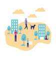 community people activity vector image vector image