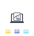 computer analysis and statistics icon vector image vector image
