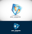 Cube 3d logo design vector image vector image