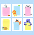 cute animals holding empty banners rabbit lion vector image vector image